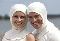 Pure silk balaclava bonnet