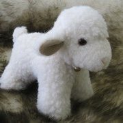Standing little lamb