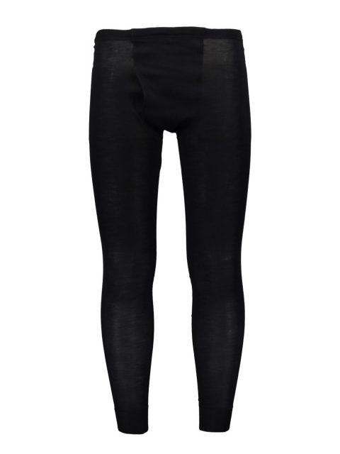Silk wool mens long pants