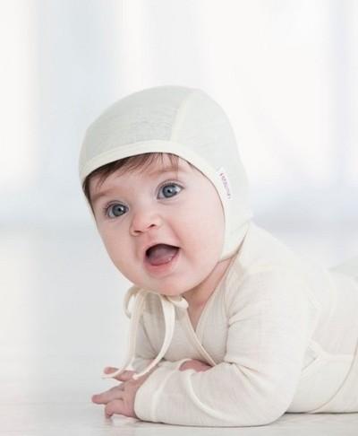 Silk wool baby bonnet
