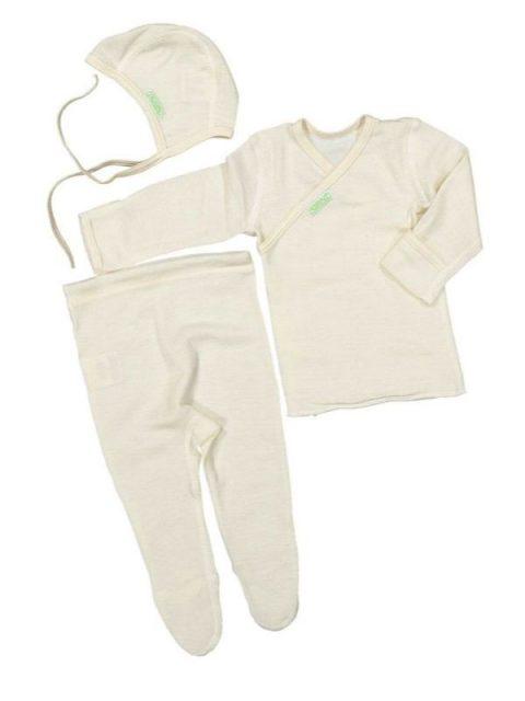 Silk wool baby newborn set