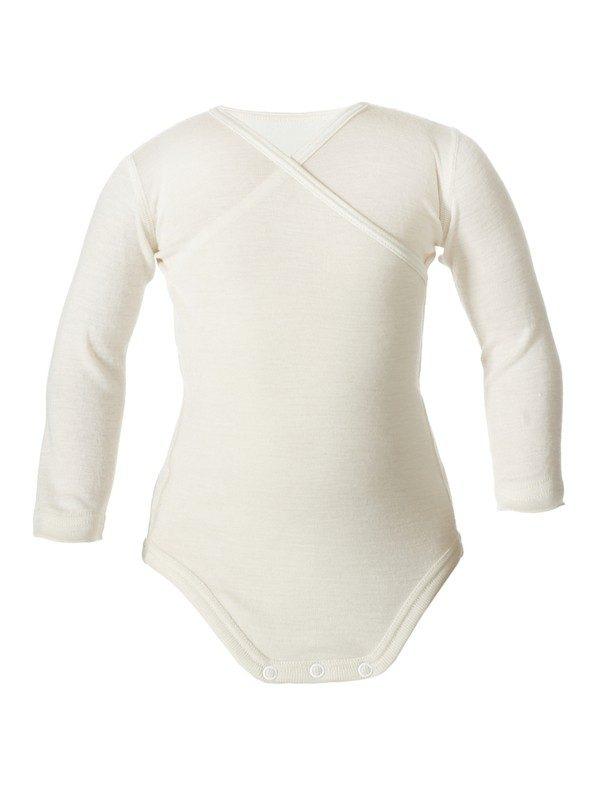 Silk wool baby body long sleeves