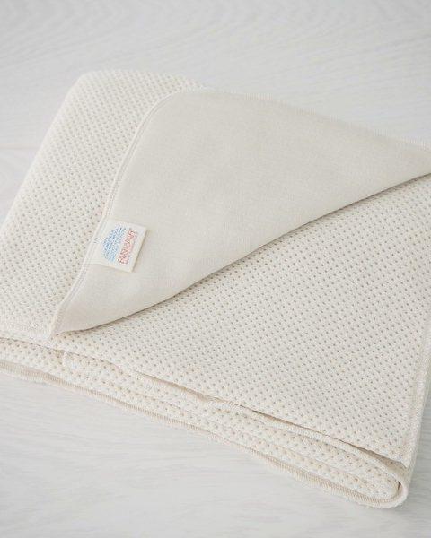 Soft organic merino wool baby blanket