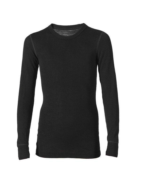 Silk wool shirt with long sleeves