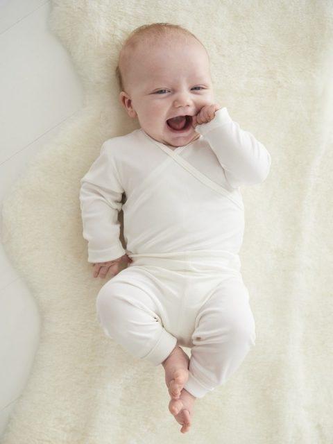 Pure silk baby body