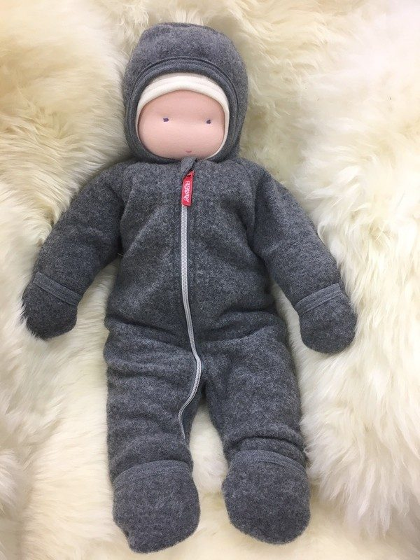 Baby wool fleece overall